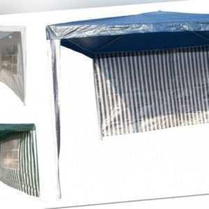 Pavillon Gartenzelt 3x3m Partyzelt Pavillion mit Seiten Bierzelt  Blau,Grün,Weiß