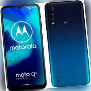 Motorola Moto G8 Power Lite 64GB Blue Android Smartphone Handy...