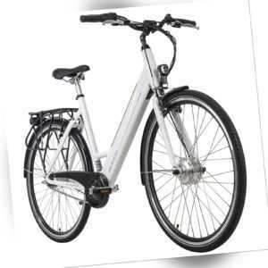 E-Bike 28 Zoll Damen Palermo weiß Frontmotor 250W Li-Ion 36V/8,7 Ah 131E