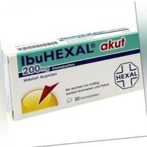 IBUHEXAL akut 200 Filmtabletten 20 St 02222472