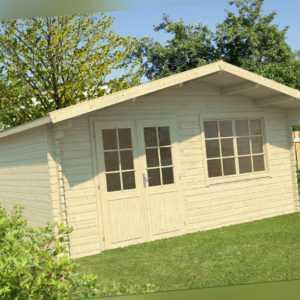 40mm ISO Gartenhaus 500x500 cm Gerätehaus Blockhaus Holzhaus Holz Geräteschuppen