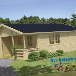 70mm Gartenhaus Kay ISO ca. 595x800 cm Blockhütte Holzhaus Hütte Ferienhaus Holz