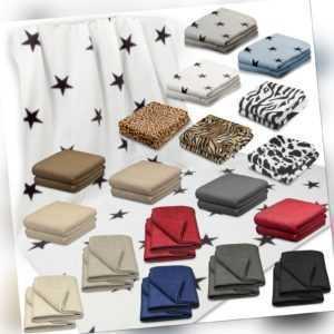 Wohndecke Schlafdecke Überwurf Decke weich wärmend / Uni und