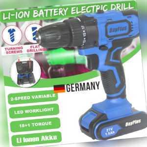 Akkuschrauber Bohrhammer Schlagbohrmaschine 2-Geschwindigkeiten | Li-ion Akku