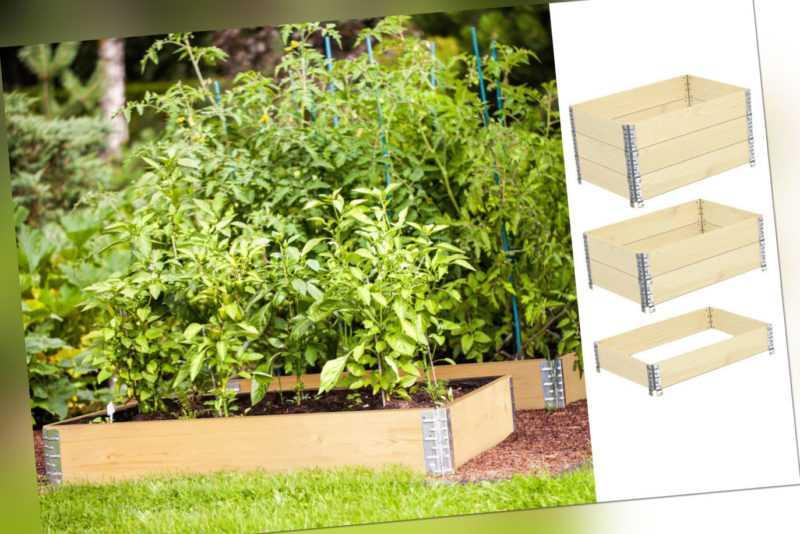 2x Palettenrahmen 120x80 Aufsatzrahmen Garten Gemüse Blumen Hochbeet Umrandung