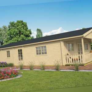 70 mm Ferienhaus ISO + Fußboden 1425x800 cm Gartenhaus Blockhaus Holzhaus Holz