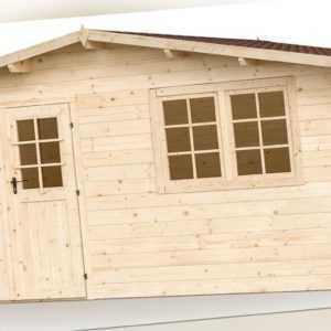 34 mm Gartenhaus 500x500 cm Salzburg 7 Gerätehaus Blockhaus Datsche Hütte Holz