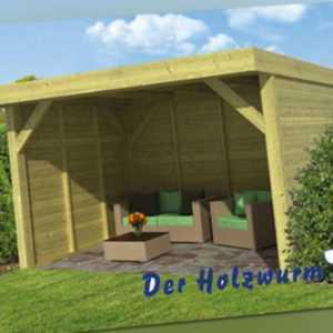 Gartenpavillon Bastenaken ca. 400x400 cm Gartenhaus Gartenlaube Offene Scheune