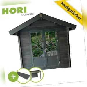 Gartenhaus 28mm WPC Gerätehaus Pultdach Geräteschuppen Schuppen Blockhaus