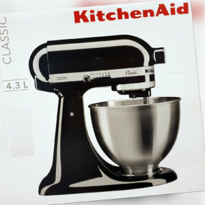 KitchenAid Küchenmaschine,Teig-Knetmaschine Classic 5K45SSEOB 4,3L,Onyx Schwarz