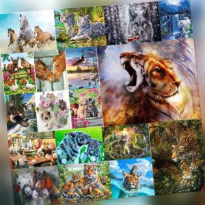 Malen nach Zahlen Kit DIY Tiere Handgemalte Leinwand Öl Kunst Bild Geschenk