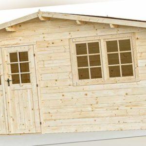 34 mm Gartenhaus Aktion SALZ 7 + Schindeln Gerätehaus 5x5 m Blockhaus Holzhaus