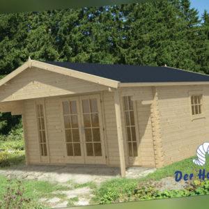 44 mm Gartenhaus 500x500 cm Blockhaus Gerätehaus Holzhaus Holz Schuppen