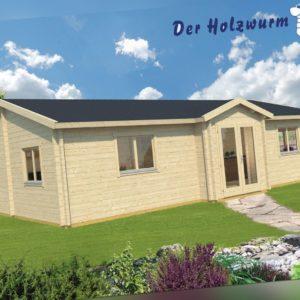 70mm Ferienhaus Skerries ISO ca 1050x650 cm Blockhütte Holz Gartenhaus Holzhütte