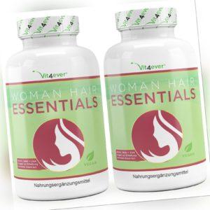 2x Woman Hair Essential - Haar Vitamine für Haarwachstum mit Biotin, Zink, Selen