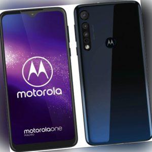 Motorola One Macro 4GB RAM 64GB 6,2'' Blue LTE WLAN Smartphone...