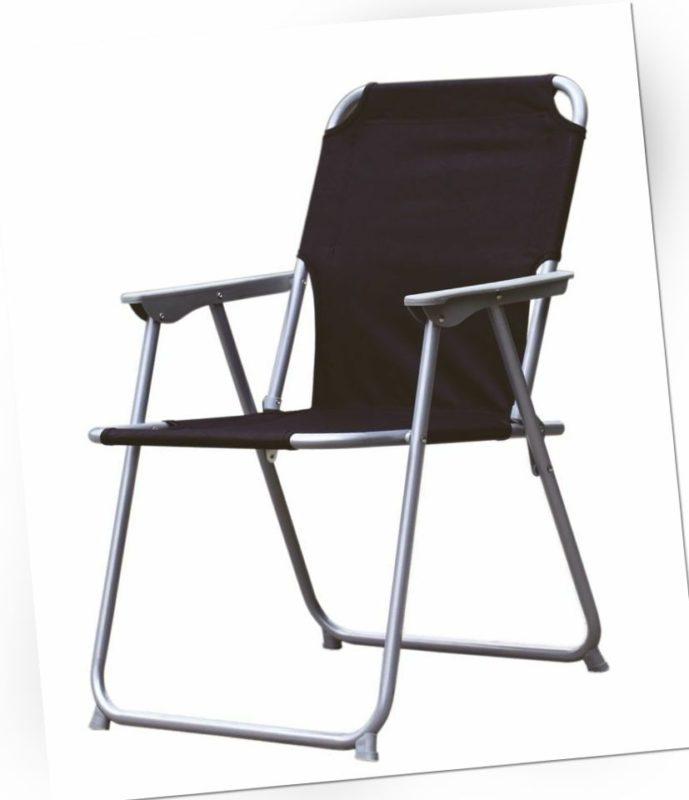 Piccolo Klappstuhl schwarz klappbar nur 4cm - Campingstuhl Anglerstuhl Faltstuhl