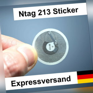 1/2/4/6/8/10/15/20 NFC Tags 180 Byte - Sticker NTag213 Tag; für Android & iPhone