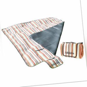 Picknikdecke: Fleece-Picknick-Decke 200 x 175 cm, wasserabweisende