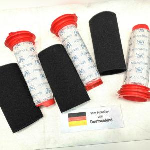 3x Filter Set passend für Bosch BCH65RT25/01, BCH65RT25/02 BoschAthlet25.2V