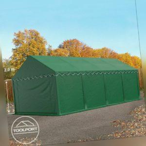 Lagerzelt 4x8m Weidezelt Zelthalle Unterstand PVC ca. 500g/m² Zelt wasserdicht