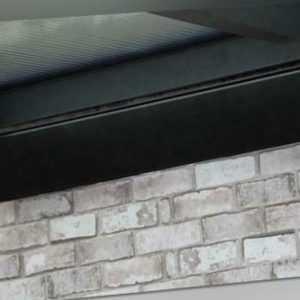 Dunkelstrahler Heizstrahler 2400 Watt mit Fernbedienung Terrassenstrahler