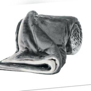 Decke Kuscheldecke Wohndecke s.Oliver grau 150x200cm Tagesdecke