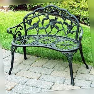 Outsunny Gartenbank Parkbank Sitzbank Garten Bank Gartenmöbel 2-Sitzer Metall