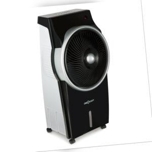 Luftkühler Ventilator Mobiles Klimagerät Ionisator Oszillation Schwarz/Silber