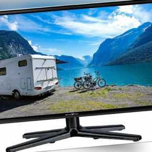 22 Zoll Camping TV 12V 24V 230V Full HD DVB-S DVB-T2 mit DVD Player Ci+ Scart