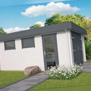 44 mm Holzgarage 380x536 cm mit Toren Garage Gartenhaus Gerätehaus Holz Holzhaus