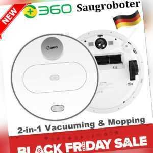 360 S6 Saugroboter Nass Trocken Smart Vakuum Cleaner Roboter Staubsauger Teppich