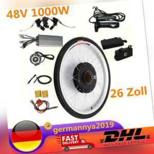 48V 1000W Hinterrad Elektro Fahrrad Umbausatz Ebike Conversion Kit 26 Zoll neu