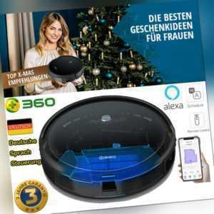 360 2in1 Saugen Wischen Saugroboter Wischfunktion Staubsauger 120 Min Alexa APP