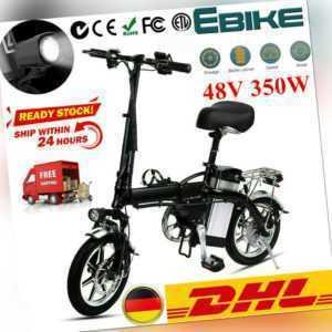 "Faltbar Elektrofahrrad E-Bike 14"" Pedelec Fahrrad 48V 350W Motor Citybike Alu Y"