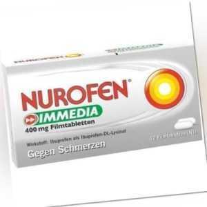 NUROFEN Immedia 400 mg Filmtabletten 12St Filmtabletten PZN 8794442