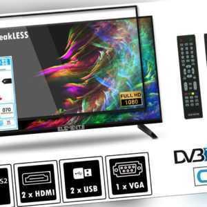 "Elements Fernseher LED TV 32"" Zoll Full HD DVB-T2/S2 2x Remote, bruchfest"