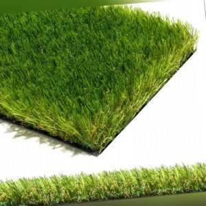 Kunstrasen hochflor Rasenteppich grün für außen Balkon Garten Mileno Verde 2m 4m