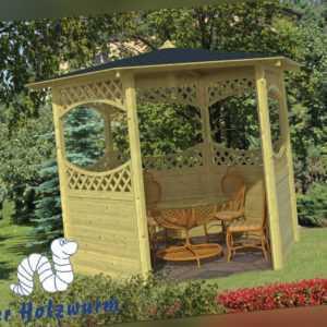 Pavillon Mittelgross Gartenlaube Durchmesser 290 cm 9,5 cm Pfosten Pavillion Neu