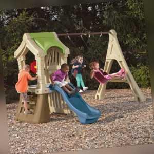 Kinder-Spielturm Play-Up Rutsche Doppelschaukel Step2 Kunststoff 213x283x191cm