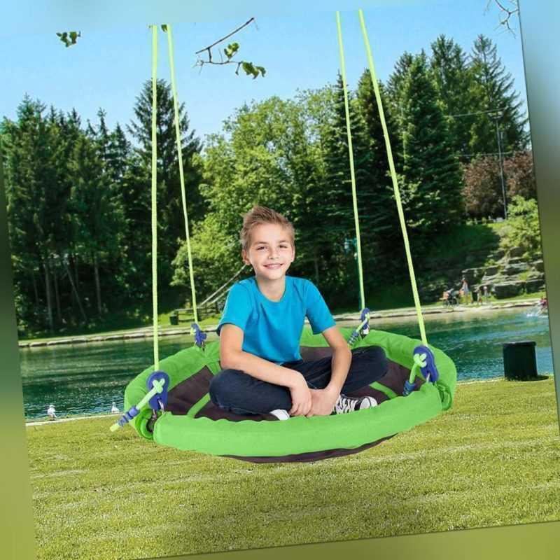Nestschaukel Rundschaukel Verstellbar Outdoor Kinderschaukel XL Ø101cm 330lbs DE