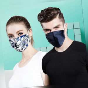 Unisex Seidenmasken Mode Gesichtsmaske Atmungsaktiver waschbarer Mundschutz