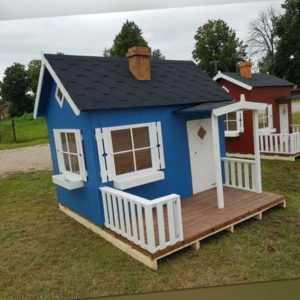 Kinderspielhaus mit Terrasse Kinderhaus Holzhaus Spielhaus Gartenhaus Holz Otto