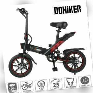 """DOHIKER Y1 Elektrofahrrad 14"""" Zoll 350W Motor Faltbares E-Bike Klapprad 25km/h"""