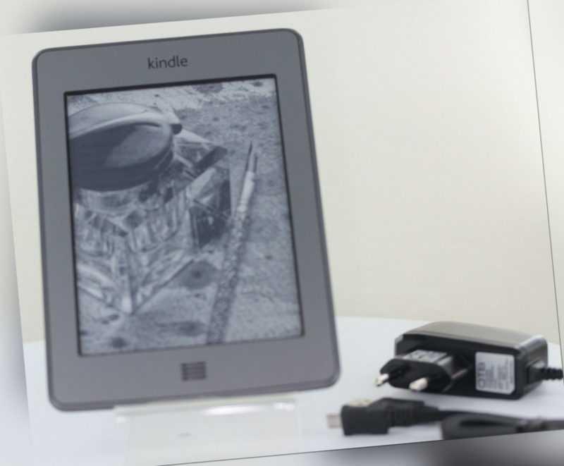 Amazon Kindle (5. Gen.) Touch Wlan + Free 3G Grau B00F** D01200 +LeuchtCase Khak