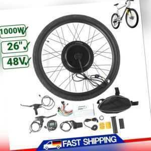 48V 1000W Vorderrad E-Bike Conversion Kit Umbausatz Schraubkranz Fahrrad Set DE