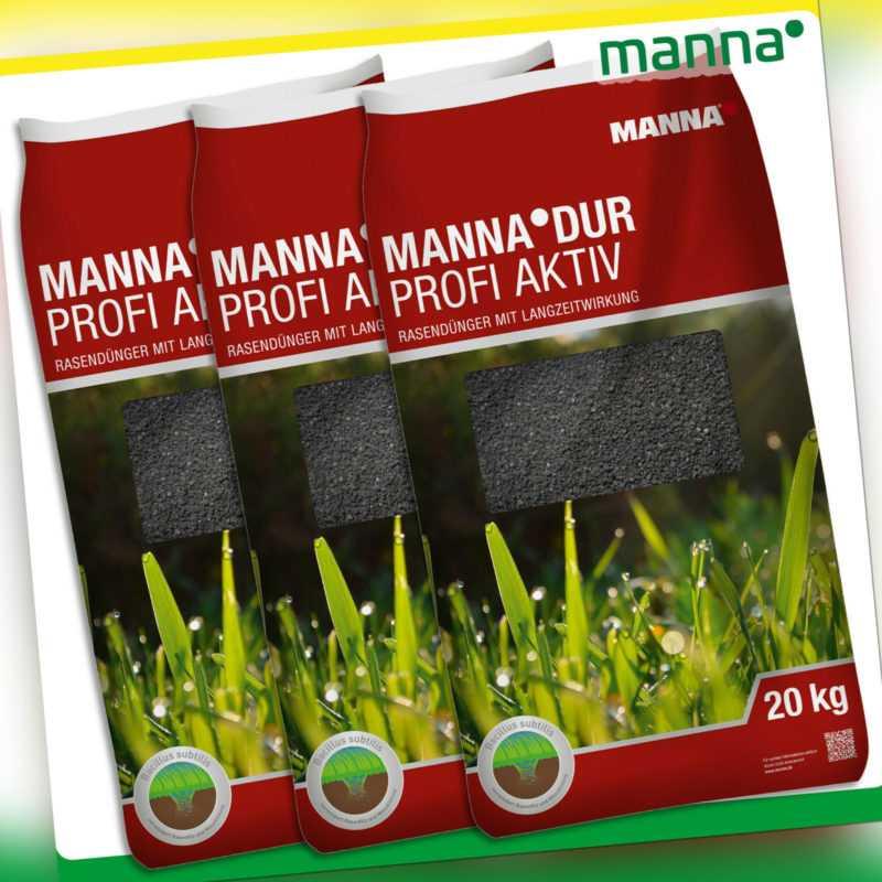 MANNA® DUR 3 x 20 kg Profi Aktiv Rasendünger