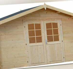 34 mm Gartenhaus Bremen INKLUSIVE Montage ca. 4x4 m Aufbau Gerätehaus Holzhaus