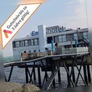 Kurzurlaub Nordsee Groningen Hotel auf Stelzen im Meer Gutschein 2 P. 3- 4 Tage