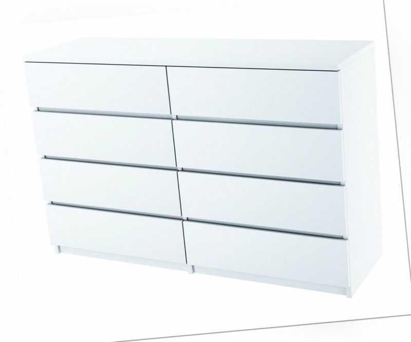 Kommode Weiß Schwarz 8 Schubladen Weiß oder weißer Hochglanzfront!! C013
